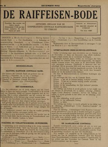blad 'De Raiffeisen-bode' (CCRB) 1933-12-01
