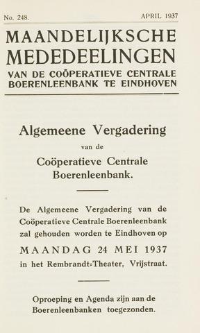 blad 'Maandelijkse Mededelingen' (CCB) 1937-04-01