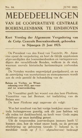 blad 'Maandelijkse Mededelingen' (CCB) 1923-06-01