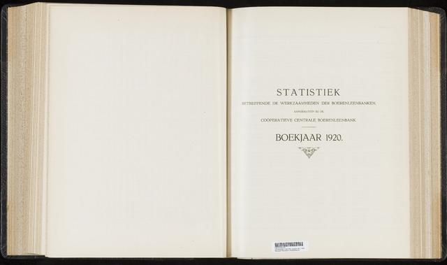 Statistiek aangesloten banken CCB 1920