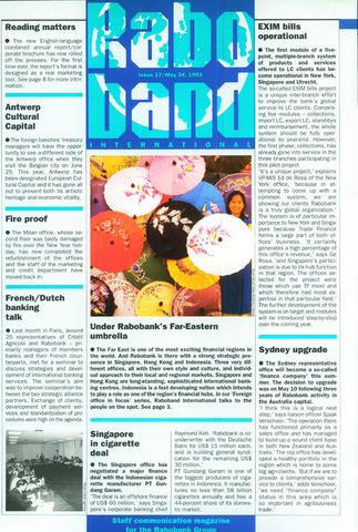 blad 'Raboband International' (EN) 1993-05-24
