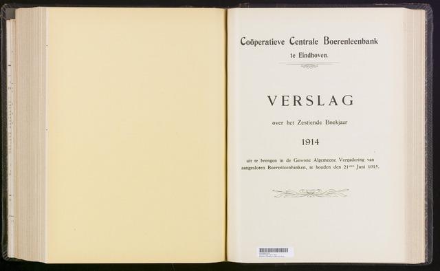 Jaarverslagen Coöperatieve Centrale Boerenleenbank 1914-12-31