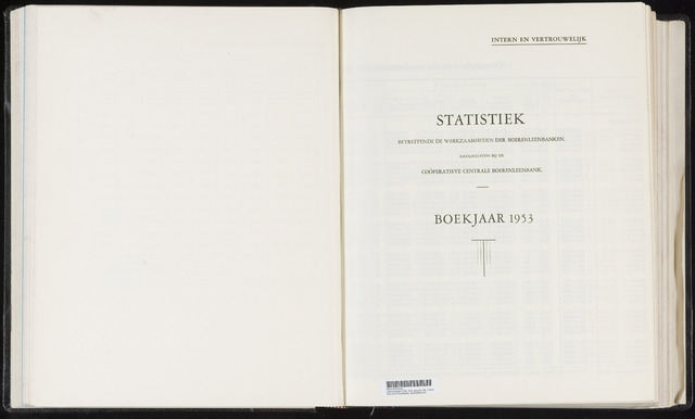 Statistiek aangesloten banken CCB 1953