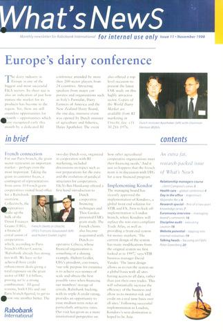 blad 'What's news' (EN) 1998-11-01
