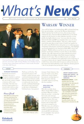blad 'What's news' (EN) 1997-05-01