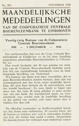 blad 'Maandelijkse Mededelingen' (CCB) 1938-11-01