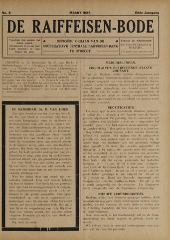 blad 'De Raiffeisen-bode' (CCRB) 1926-03-01