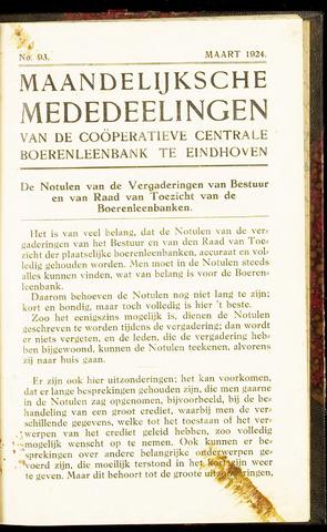 blad 'Maandelijkse Mededelingen' (CCB) 1924-03-01