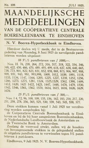 blad 'Maandelijkse Mededelingen' (CCB) 1925-06-01