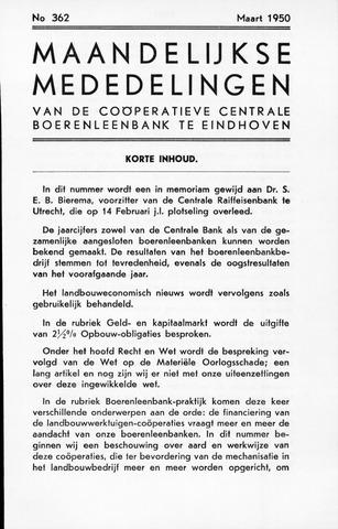 blad 'Maandelijkse Mededelingen' (CCB) 1950-03-01