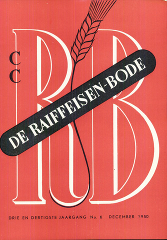 blad 'De Raiffeisen-bode' (CCRB) 1950-12-01