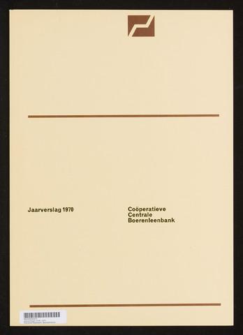 Jaarverslagen Coöperatieve Centrale Boerenleenbank 1970-12-31