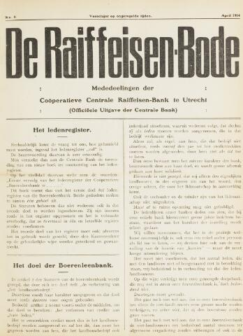 blad 'De Raiffeisen-bode' (CCRB) 1914-04-01