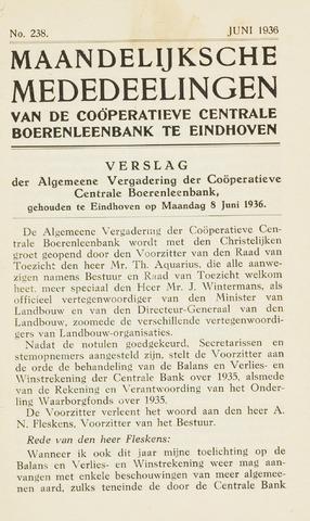 blad 'Maandelijkse Mededelingen' (CCB) 1936-06-01