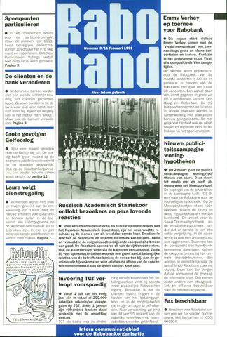 blad 'Raboband' 1991-02-11