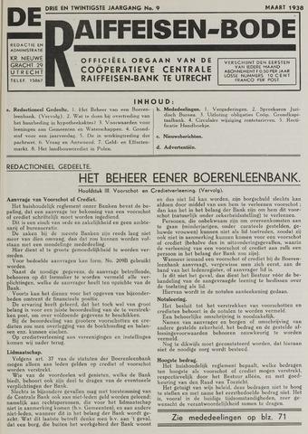 blad 'De Raiffeisen-bode' (CCRB) 1938-03-01