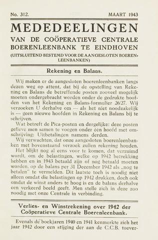 blad 'Maandelijkse Mededelingen' (CCB) 1943-03-01