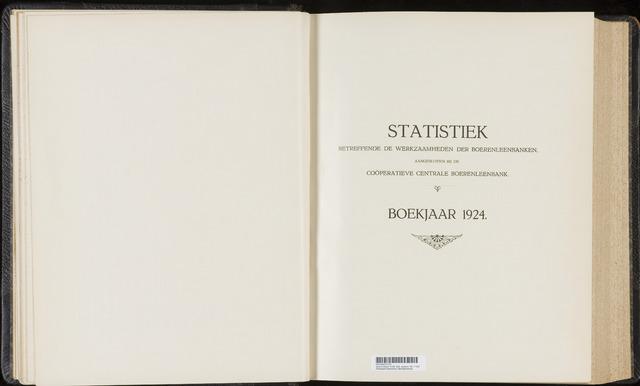 Statistiek aangesloten banken CCB 1924-12-31