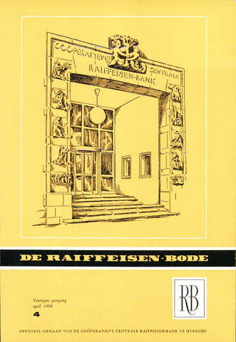 blad 'De Raiffeisen-bode' (CCRB) 1958-04-01
