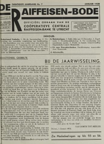 blad 'De Raiffeisen-bode' (CCRB) 1935
