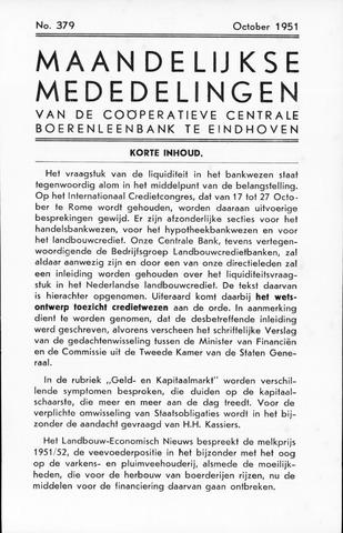 blad 'Maandelijkse Mededelingen' (CCB) 1951-10-01