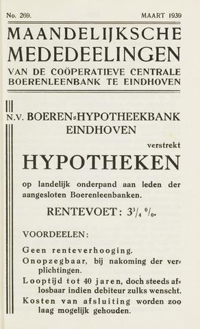 blad 'Maandelijkse Mededelingen' (CCB) 1939-03-01