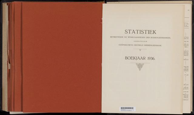 Statistiek aangesloten banken CCB 1936