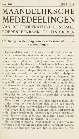 blad 'Maandelijkse Mededelingen' (CCB) 1925-07-01