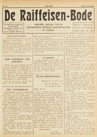 blad 'De Raiffeisen-bode' (CCRB) 1918-05-01