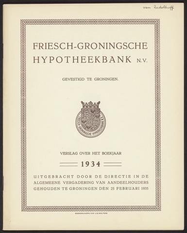 Jaarverslagen Friesch-Groningsche Hypotheekbank / FGH Bank 1934