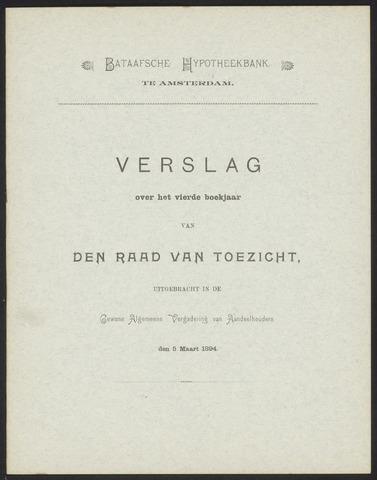 Jaarverslagen Bataafsche Hypotheekbank 1893