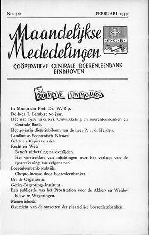blad 'Maandelijkse Mededelingen' (CCB) 1959-02-01