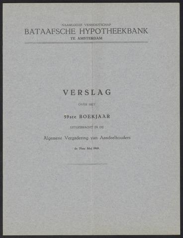 Jaarverslagen Bataafsche Hypotheekbank 1948