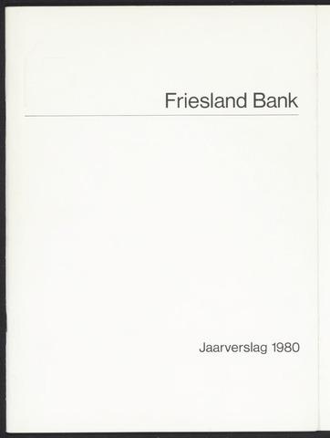 Jaarverslagen Friesland Bank 1980
