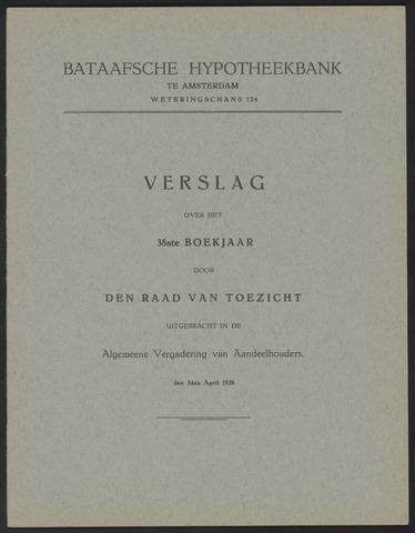 Jaarverslagen Bataafsche Hypotheekbank 1927