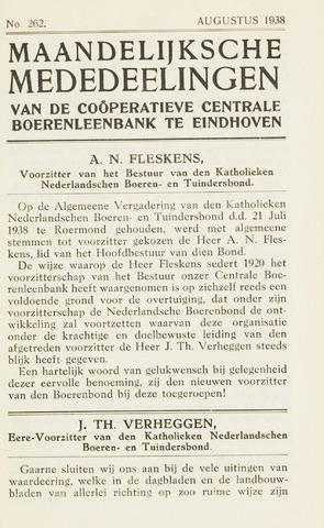 blad 'Maandelijkse Mededelingen' (CCB) 1938-08-01