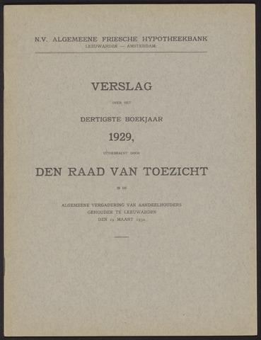 Jaarverslagen Algemeene Friesche Hypotheekbank 1929