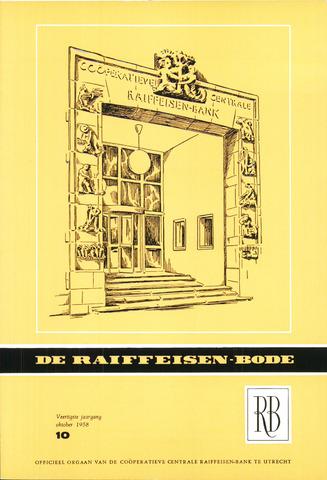 blad 'De Raiffeisen-bode' (CCRB) 1958-10-01