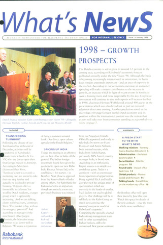 blad 'What's news' (EN) 1998-01-01