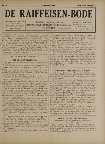 blad 'De Raiffeisen-bode' (CCRB) 1928