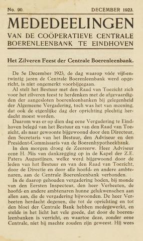 blad 'Maandelijkse Mededelingen' (CCB) 1923-12-01