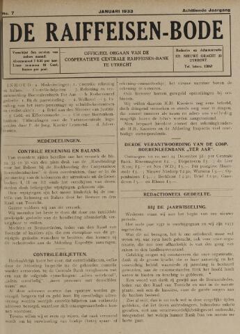 blad 'De Raiffeisen-bode' (CCRB) 1933