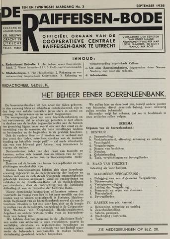 blad 'De Raiffeisen-bode' (CCRB) 1935-09-01