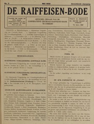 blad 'De Raiffeisen-bode' (CCRB) 1932-05-01
