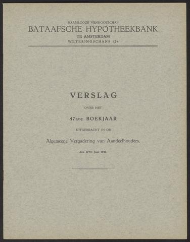 Jaarverslagen Bataafsche Hypotheekbank 1936