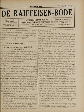 blad 'De Raiffeisen-bode' (CCRB) 1928-10-01