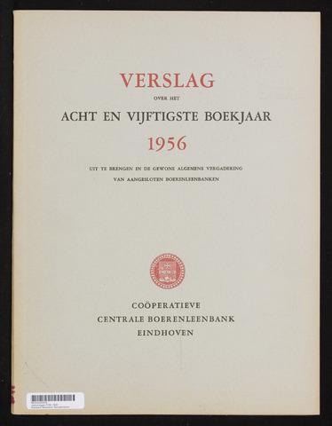 Jaarverslagen Coöperatieve Centrale Boerenleenbank 1956