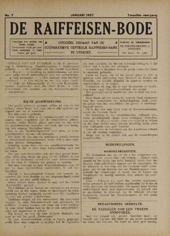 blad 'De Raiffeisen-bode' (CCRB) 1927