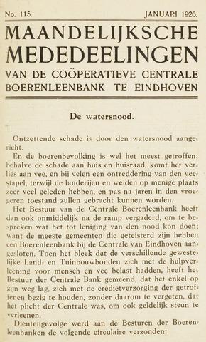 blad 'Maandelijkse Mededelingen' (CCB) 1926-01-01