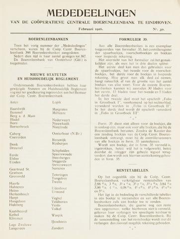 blad 'Mededeelingen' (CCB) 1916